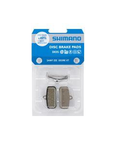 Shimano pastiglie freno resina D03S Incl Spring/Split Pin 1 pair